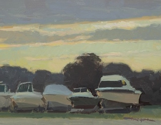 Painting of Boats on Trailers by Troy Kilgore