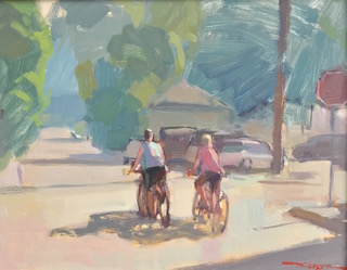Bicyclists Painting